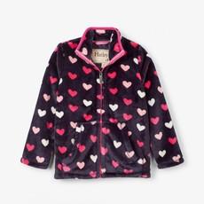 Hatley Lovey Hearts Fuzzy Fleece Zip Up