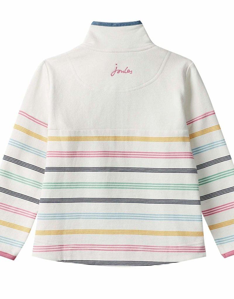 Little Joule Cream Multi Stripe Half Zip Fairdale