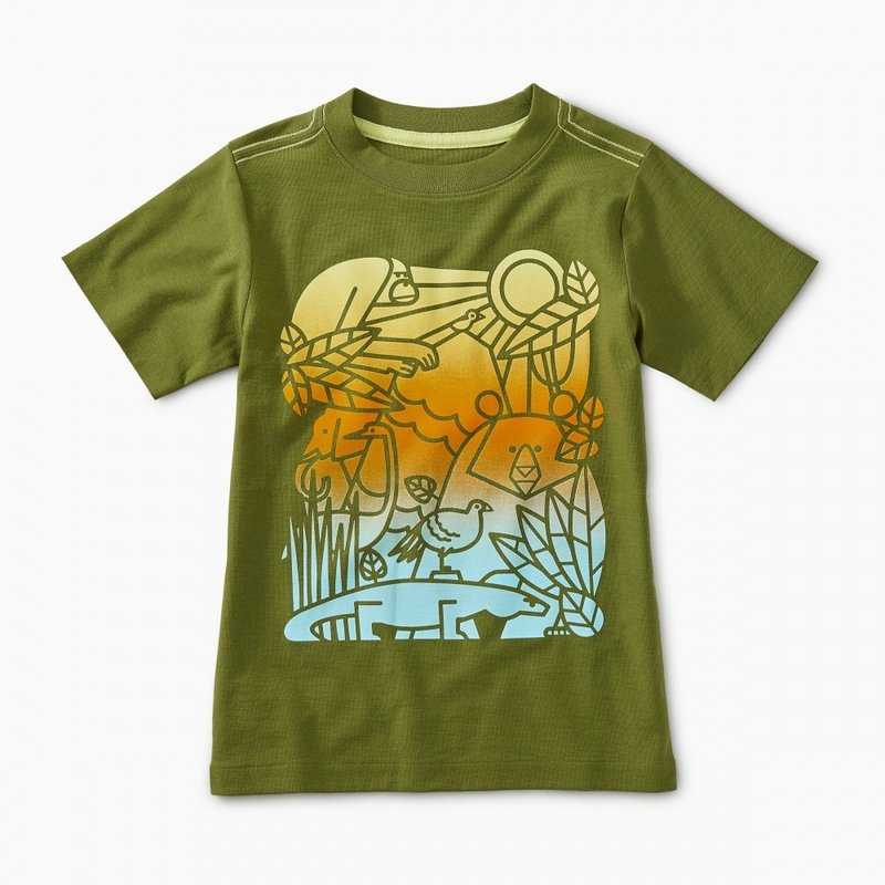 Tea Collection Ombre Animals Graphic Tee