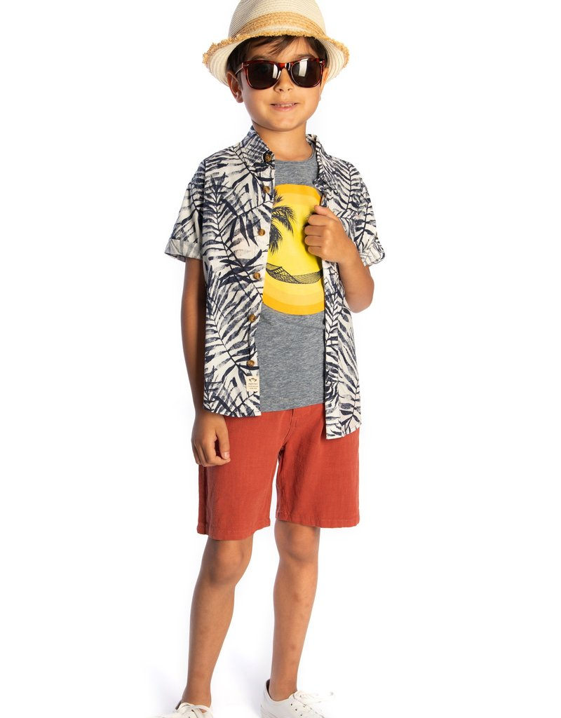 Appaman Navy Areca Pattern Shirt