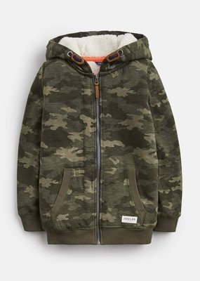 Little Joule Camo Fleece Lined Hoodie