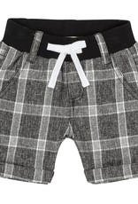 Deux Par Deux Black Plaid Bermuda Shorts