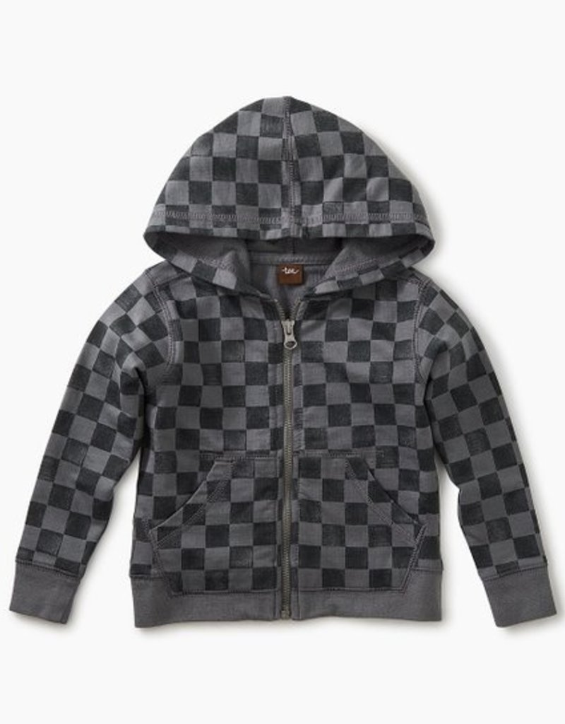 Tea Collection Printed Zip Hoodie Soho Squares