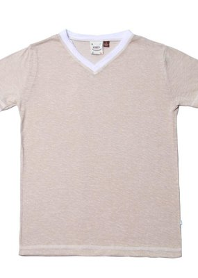 Fore! Heather Tan Melange Jersey Tee