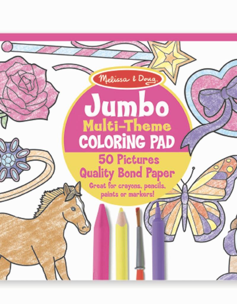 Jumbo multi theme coloring pad