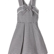 Mabel and Honey Stripe Bow Trim Dress