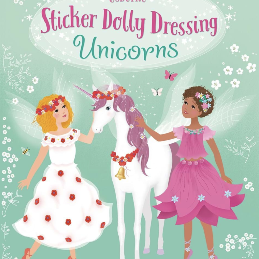 Usborne Books Sticker Dolly Dressing Unicorns