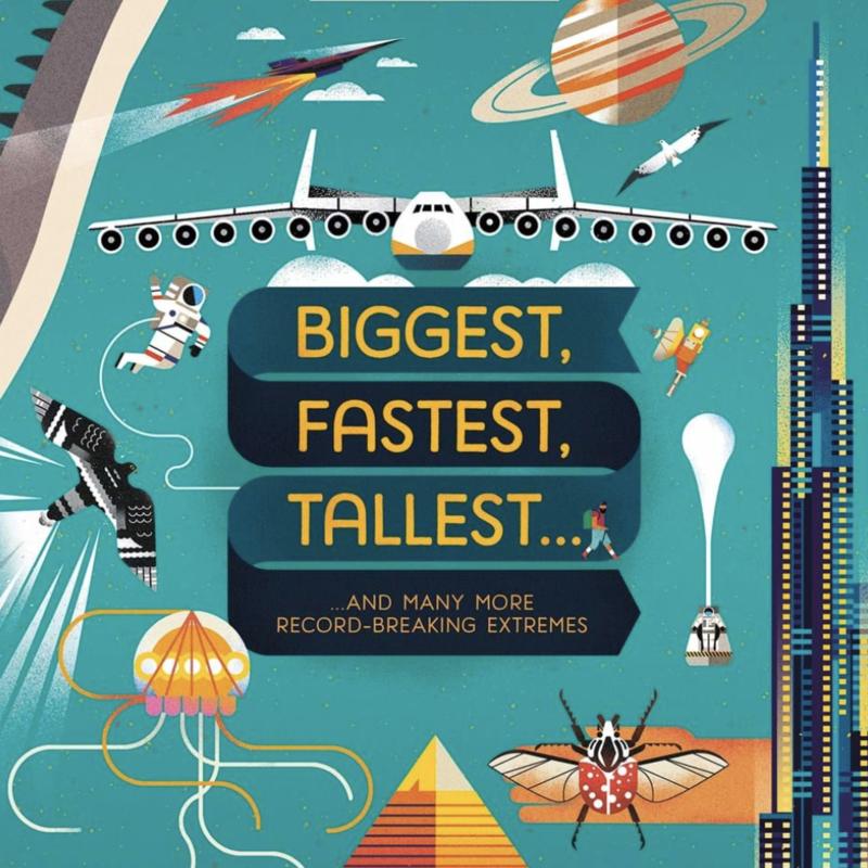 Usborne Books Lift-the-Flap Biggest, Fastest, Tallest (IR)