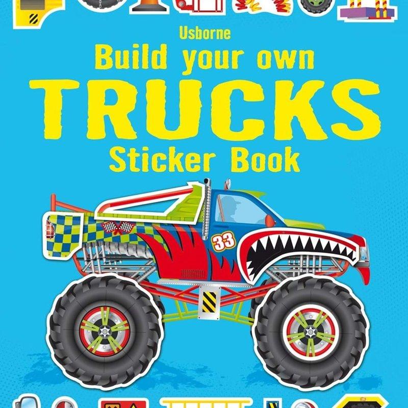 Usborne Books Build Your Own Trucks Sticker Book