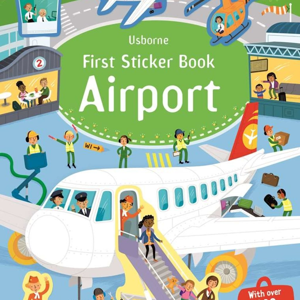 Usborne Books First Sticker Book, Airport