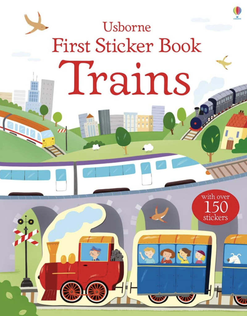 Usborne Books First Sticker Book, Trains