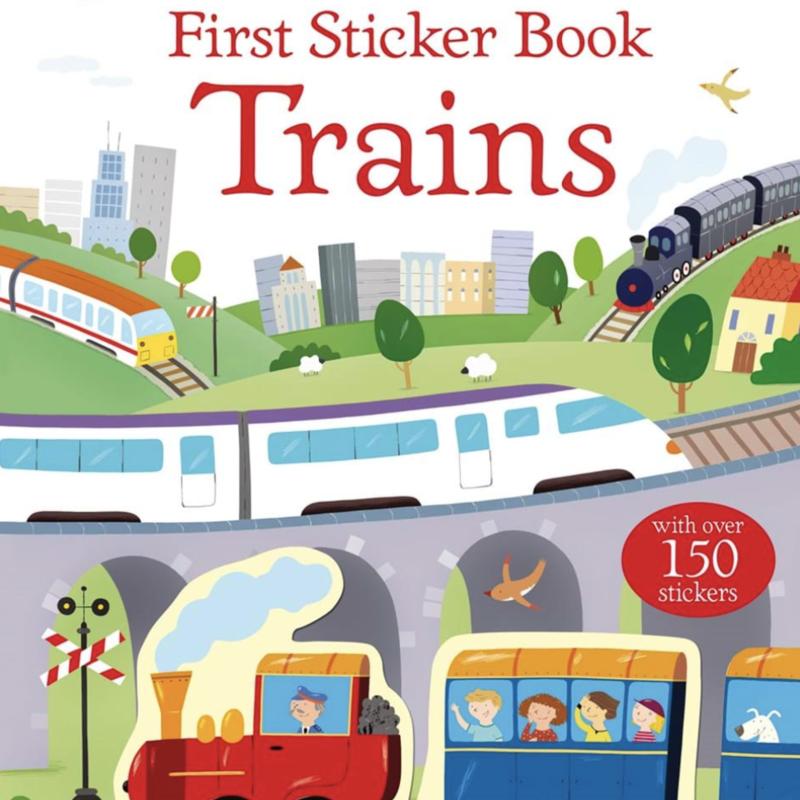 Usborne Books First Sticker Book, Trains
