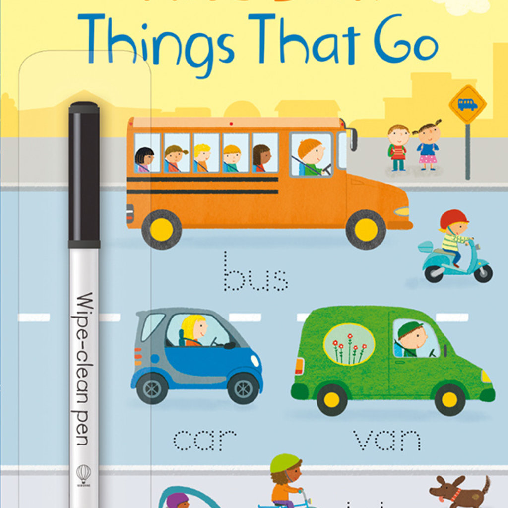 Usborne Books Little Wipe-Clean Word Book: Things That Go (IR)