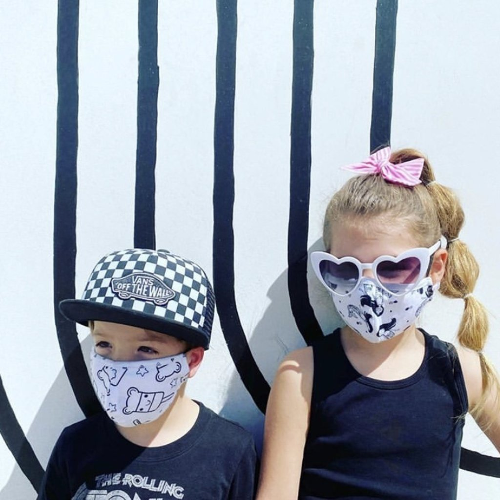 Pink Peony Kids K1 Children's Popsicle Mask