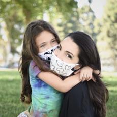 Pink Peony Kids K2 Children's Confetti Love Mask
