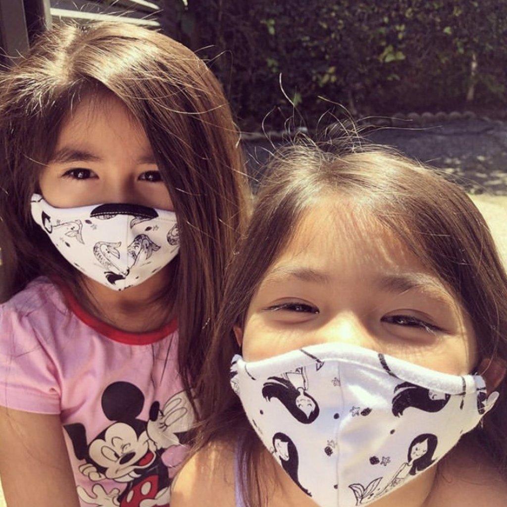 Pink Peony Kids K2 Children's Mermaid Mask
