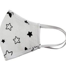 Pink Peony Kids Adult White Starbright Mask