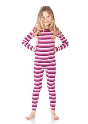 Kickee Pants Coral Stripe PJ Set