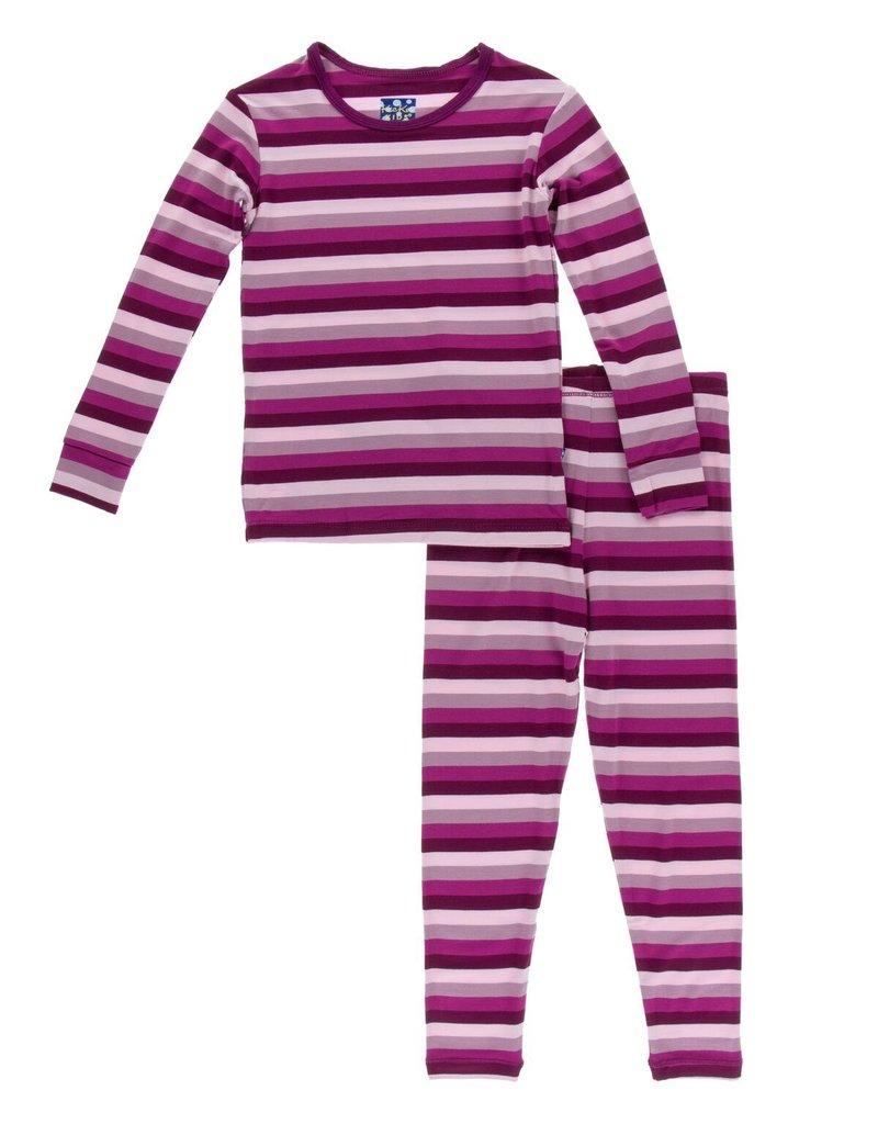Coral Stripe PJ Set