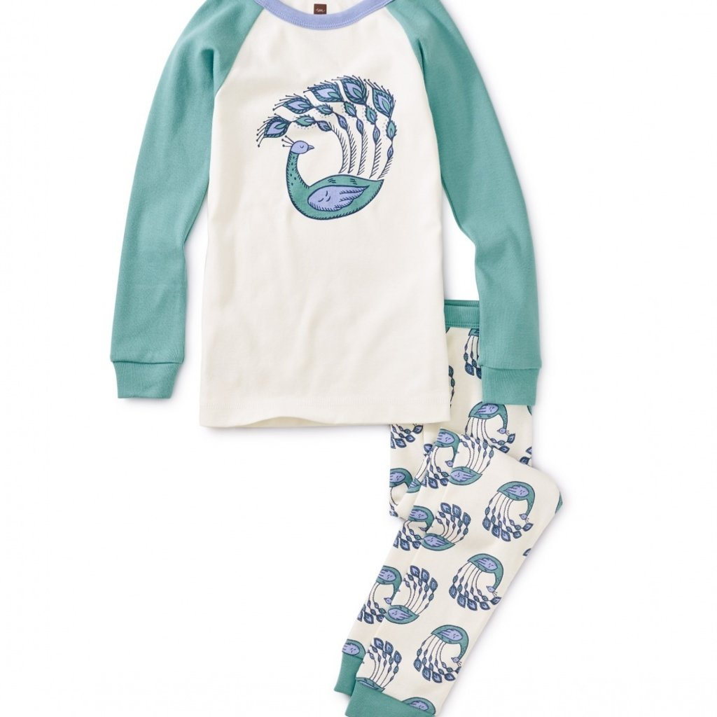 Tea Collection Peacock Plumes Graphic Pajamas