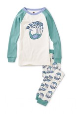 Tea Collection Peacock Plumes Graphic Pajamas