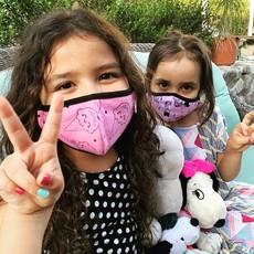 Pink Peony Kids K1 Children's Hot Pink Confetti Love Mask