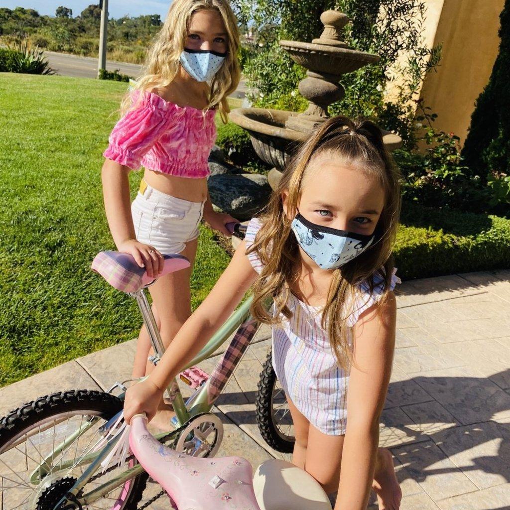 Pink Peony Kids K2 Children's Hot Pink Confetti Love Mask