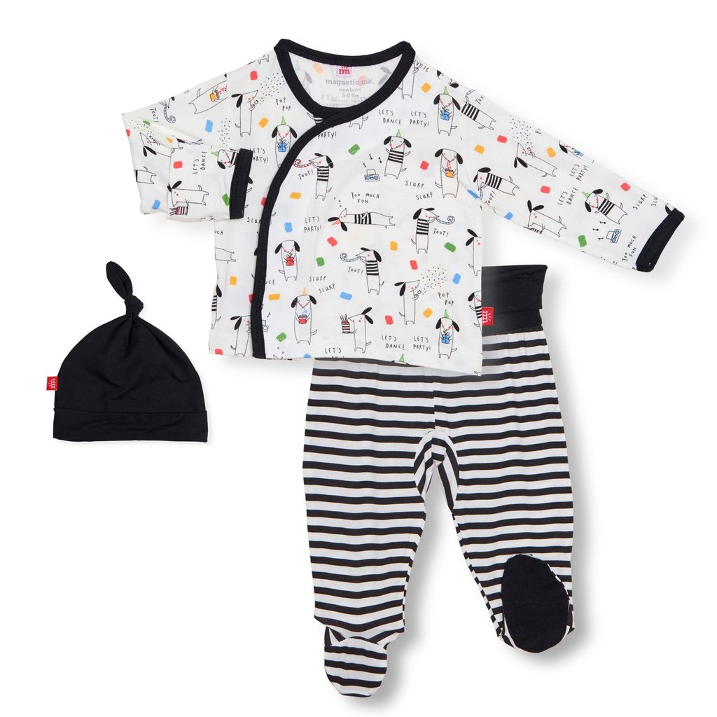 Magnificent Baby Raise the Woof 3pc Kimono Set