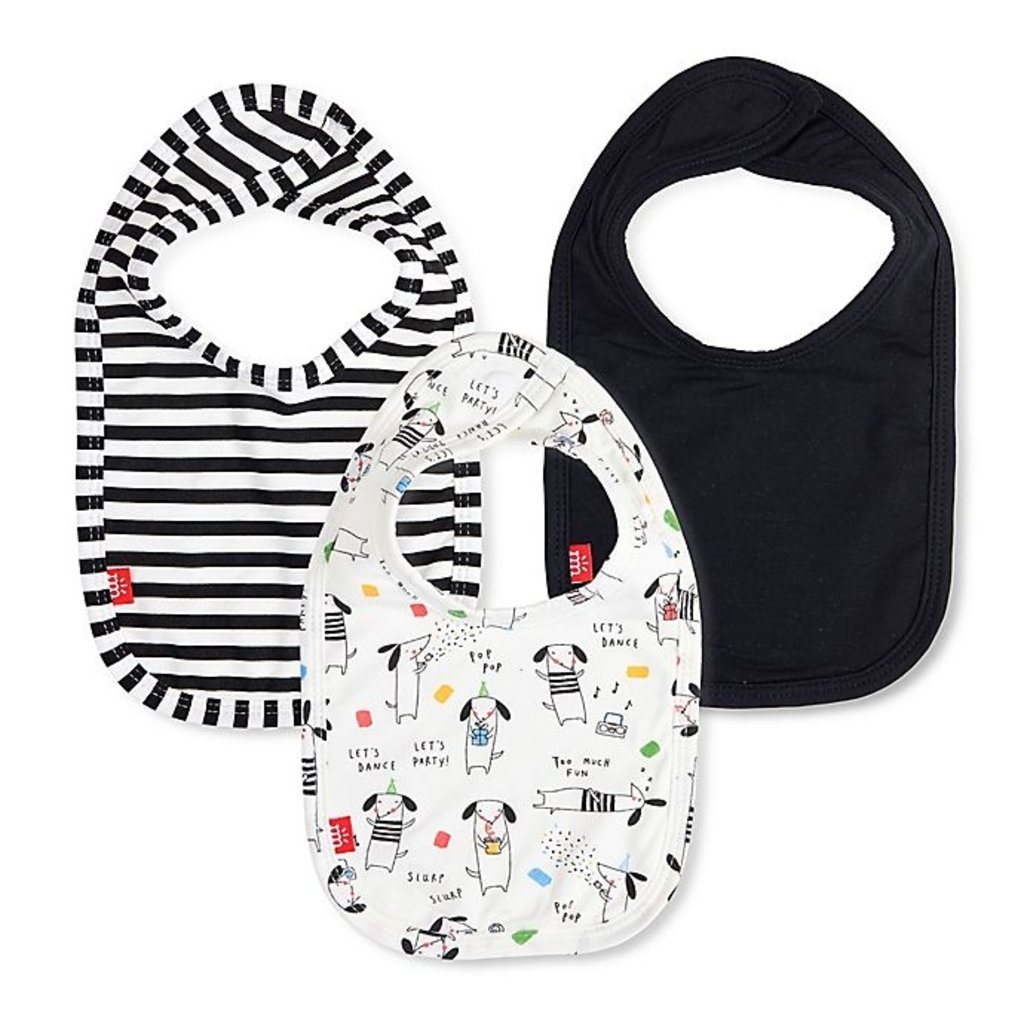 Magnificent Baby Raise the Woof Bib 3pk