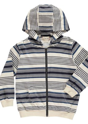 Me & Henry Blue Stripe Hooded Top