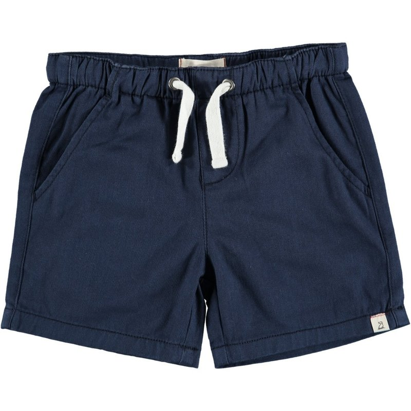 Me & Henry Navy Twill Shorts drawstrings