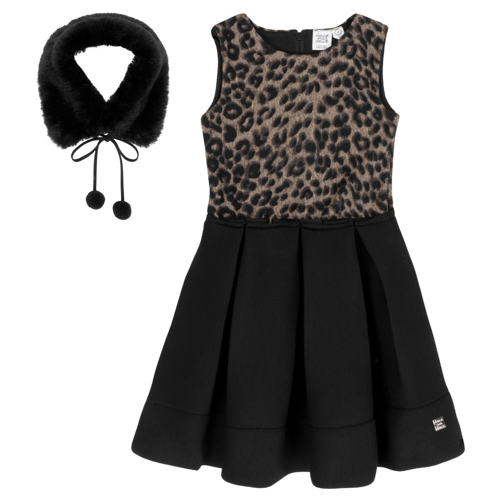Deux Par Deux Leopard Print Dress