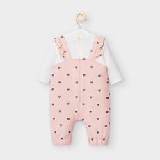 Mayoral USA Pink Bunny Pocket Romper