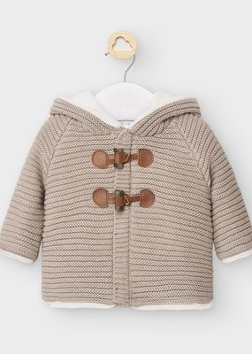 Mayoral USA Tan Knit Button Jacket