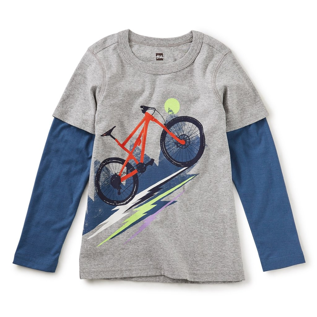 Tea Collection Heavy Pedal Layered Graphic Te