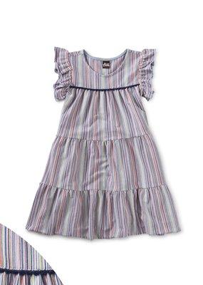 Tea Collection Tassel Trim Tiered Dress