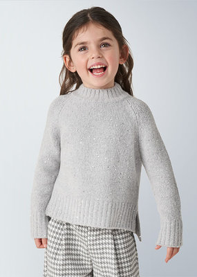 Mayoral USA Gray Sequin Sweater