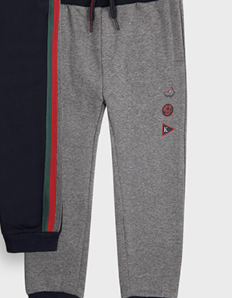 Mayoral USA Gray with Stripes Jogger
