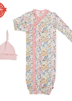 Magnificent Baby Chelsea Organic Floral Gown and Hat