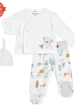 Magnificent Baby My year of firsts 3 pc kimono set