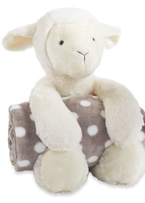 Mud Pie Lamb Plush with Blanket