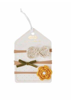 Mud Pie Yellow Flower Headband Set