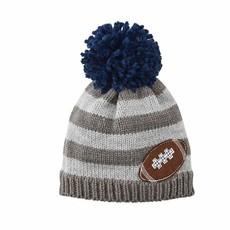 Mud Pie Gray Football Knit Hat