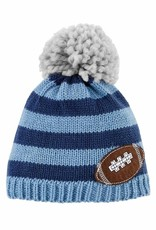 Mud Pie Blue Football Knit Hat
