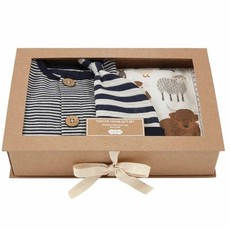 Mud Pie Blue Stripe Boxed Gift