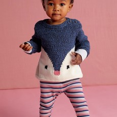 Tea Collection Striped Ribbed Baby Leggings
