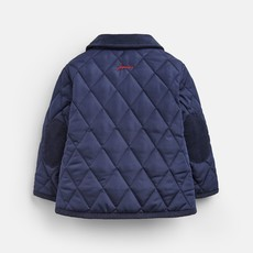 French Navy Quilted Jacket
