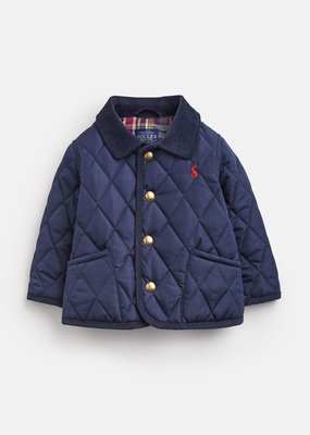 Little Joule French Navy Quilted Jacket