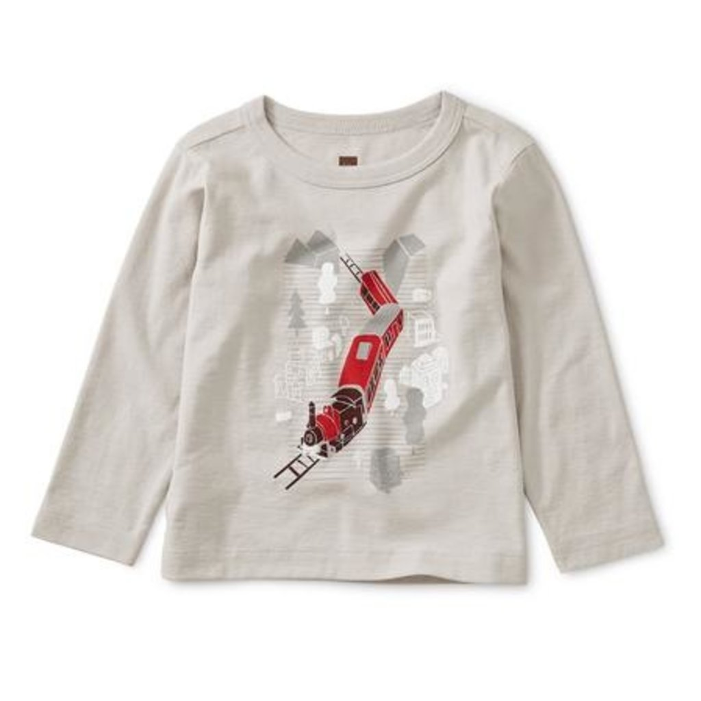 Tea Collection Train Baby Graphic Tee