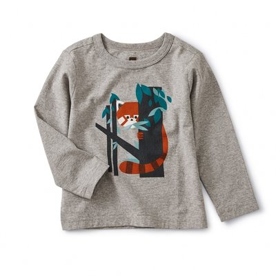 Tea Collection Red Panda Baby Graphic Tee